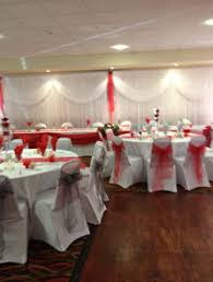 Wedding Chair Covers And Sashes Chair Cover And Sash Hire Wedding Decorations Hayleys Bloomers