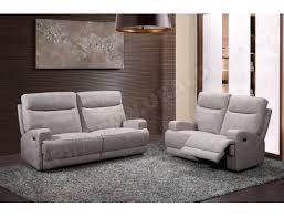 ub design canapé canapé tissu ub design adele 2 places 2 relax électriques gris