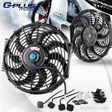 electric radiator fans 12 universal slim pull push racing 12v electric radiator engine