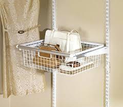 Closet Storage Shelves Unit Wire Rolling Shelves Basket Organizer Sliding Drawer Like Unit