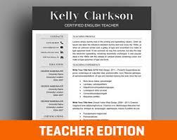 Vintage Resume Template Teacher Resume Etsy