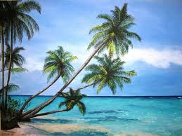 palm tree paradise original acrylic painting 18x24 68 00
