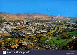 Boise Greenbelt Map Usa Idaho Boise Aerial View Of Downtown Skyline And Boise River