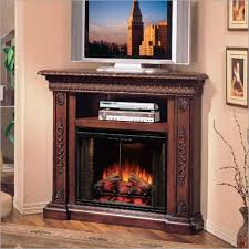 Electric Fireplace Tv by Corner Electric Fireplace Tv Stand Oak Home Fireplaces Firepits