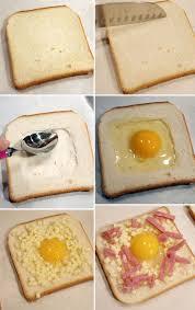 plat a cuisiner rapide toast oeuf sur le plat cuisine rapide titre recette