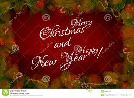 happy new year photo card widescreen merry christmas and happy new year card royalty stock