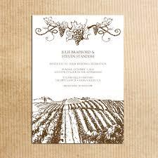 brown rustic vineyard wedding invitations vintage grapevine