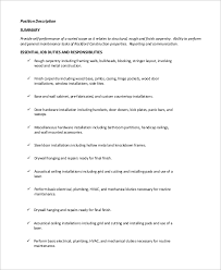 Carpenters Resume Awesome Collection Of Duties Of A Carpenter For Resume Sample