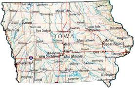 state of iowa map map of iowa ia state map