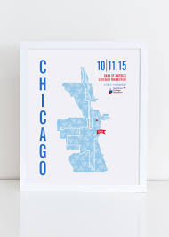 Map Of Blue Line Chicago by 2015 Bank Of America Chicago Marathon Map Print Chicago Tribune
