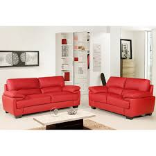 Chelsea Vibrant Red Leather Sofa Collection - Chelsea leather sofa