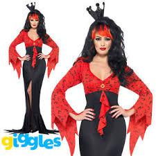 evil queen costume womens ladies vampire halloween vamp scary
