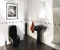 modern contemporary black and white bathroom decor stainless steel