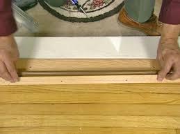 Laminate Floor Door Threshold How To Install A Door Threshold With Vinyl Bulb How Tos Diy