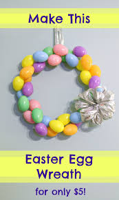 how to make an easter egg wreath make an easter egg wreath for 5 dollar tree crafting