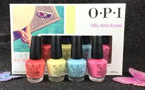 opi nail lacquer retro summer mini 4 pcs i gel nails com