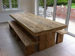 rustic dining table with bench bitspin co