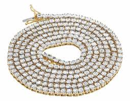 real diamond necklace images Yellow gold finish 1 row real diamond necklace 34 ins 2 25 ct jpg