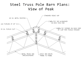 Barn Plans Steel Truss Pole Barn Plans Roof Trusses Plans Swawou