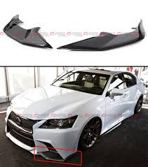 lexus for sale western australia 2 pc jdm carbon fiber front bumper splitters lip for 2013 15 lexus