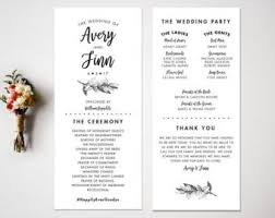 wedding program designs arrow wedding program design