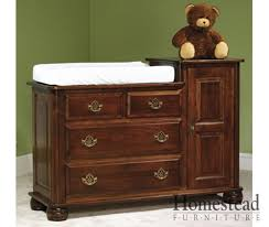 Brown Changing Table Shaker Changing Table Homestead Furniture