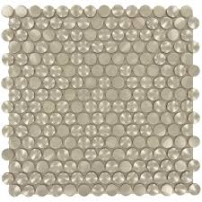 d penny round stainless steel tile  with d penny round stainless steel tile from glasstileoasiscom