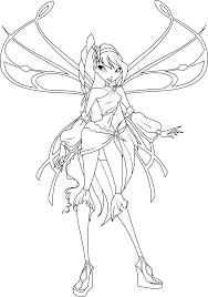 Musa Sophiex Coloring Page By Icantunloveyou On Deviantart Winx Club Musa Coloring Pages