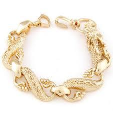 fashion bracelet designs images Unique gold color dragon shape decorated simple design alloy jpg