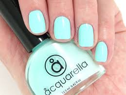 acquarella non toxic nail polish in frolic swatches and review