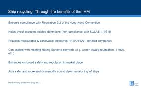 ship recycling and the ihm ppt download