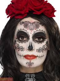 top halloween makeup multi coloured day of the dead tattoo transfers u2013 halloween makeup