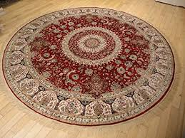 Round Wool Rugs Stunning Silk Persian Area Rugs Traditional Design Red Tabriz 6 6