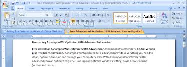 adding tab features on microsoft word excel and powerpoint 2003