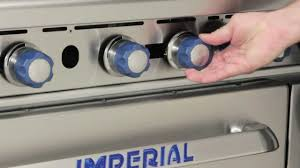 imperial convection oven pilot light imperial ir series range exterior features youtube