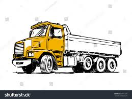 dump truck sketch isolated on white stock vector 558911206