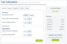 Estimate Tax Refund 2014 by Top 5 Tax Refund Calculators To Ease Tax Refund Estimate Process