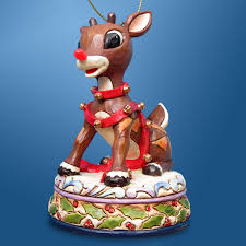 rudolph and clarice nosed reindeer glass ornament rudolph