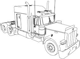 peterbilt 379 long trailer truck coloring page wecoloringpage