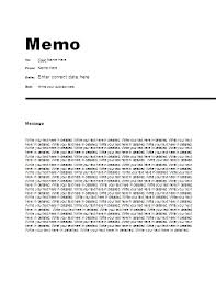Memo Template Free Free Office Memo Template