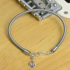bracelet crystal string images Recycled bass guitar string bracelet by bobby rocks jpg