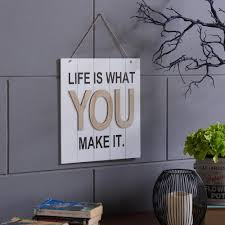 danya b inspirational is what you make it wooden wall plaque