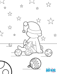 christmas teddy coloring pages hellokids com