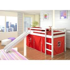Bunk Beds Pink Bunk Beds With Slide Kid Bed Loft White And
