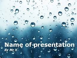 Water Powerpoint Templates by Water Drops Atmosphere Powerpoint Template