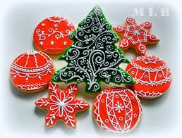 Decorated Christmas Tree Sugar Cookies by My Little Bakery Christmas Tree Cookies And Polish Glaze