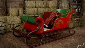 real santa sleigh