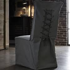 housse de chaise housse de chaise mariage en coton gris clair deco mariage badaboum