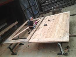 kenney pierce timber making the recycled timber barn style doors