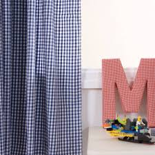 navy gingham curtains childrens bedding